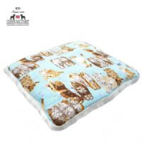 PET BED - ROBERT KAUFMAN 'WHISKERS AND TAILS ON AQUA'
